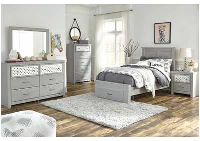 Image for Arcella Gray Twin Storage Bed w/Dresser and Mirror