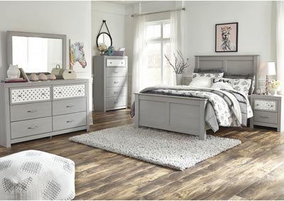 Image for Arcella Gray Full Panel Bed w/Dresser and Mirror