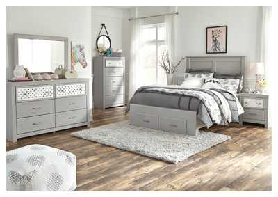 Arcella Gray Full Storage Bed,Signature Design By Ashley