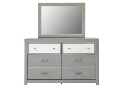 Arcella Gray Dresser and Mirror