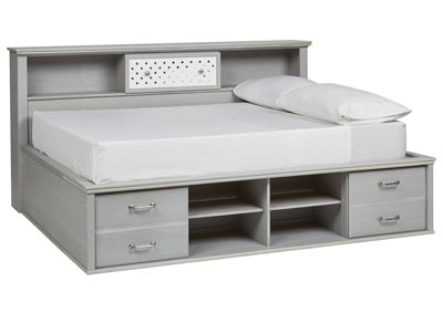 Arcella Gray Bookcase Full Bed