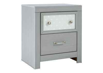 Arcella Gray Nightstand