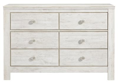 Paxberry Whitewash Dresser