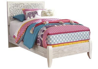 Image for Paxberry Whitewash Twin Panel Bed
