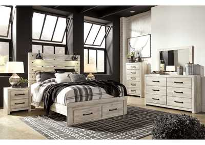 Image for Cambeck Queen Panel Bed with 2 Storage Drawers, Dresser and Mirror