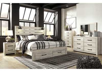 Image for Cambeck King Panel Bed with 2 Storage Drawers, Dresser and Mirror