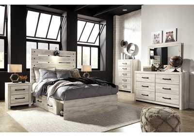 Image for Cambeck Full Panel Bed with 4 Underbed Storage Drawers, Dresser and Mirror