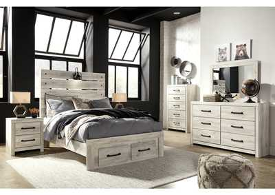 Image for Cambeck Full Panel Bed with 2 Storage Drawers, Dresser and Mirror