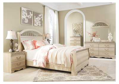 Image for Catalina Antique White Queen Sleigh Bed