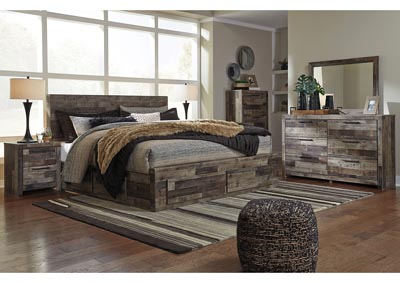 Image for Derekson Multi Gray King Storage Bed w/Dresser and Mirror
