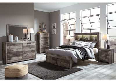 Image for Derekson Multi Gray Full Bookcase Storage Bed w/Dresser and Mirror