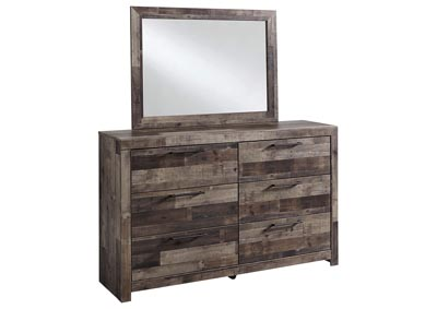 Derekson Multi Gray Bedroom Dresser w/Mirror,Benchcraft