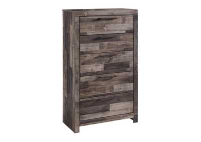 Derekson Multi Gray Five Drawer Chest,Benchcraft