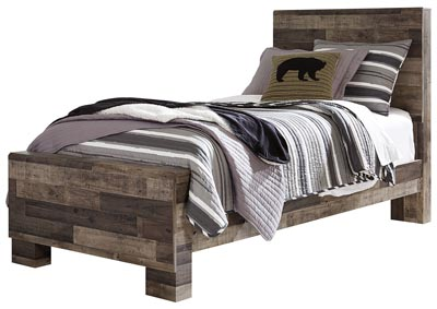 Derekson Gray Twin Panel Bed