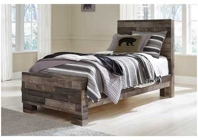 Derekson Multi Gray Twin Panel Bed,Benchcraft