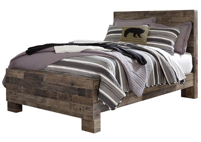 Derekson Multi Gray Full Panel Bed