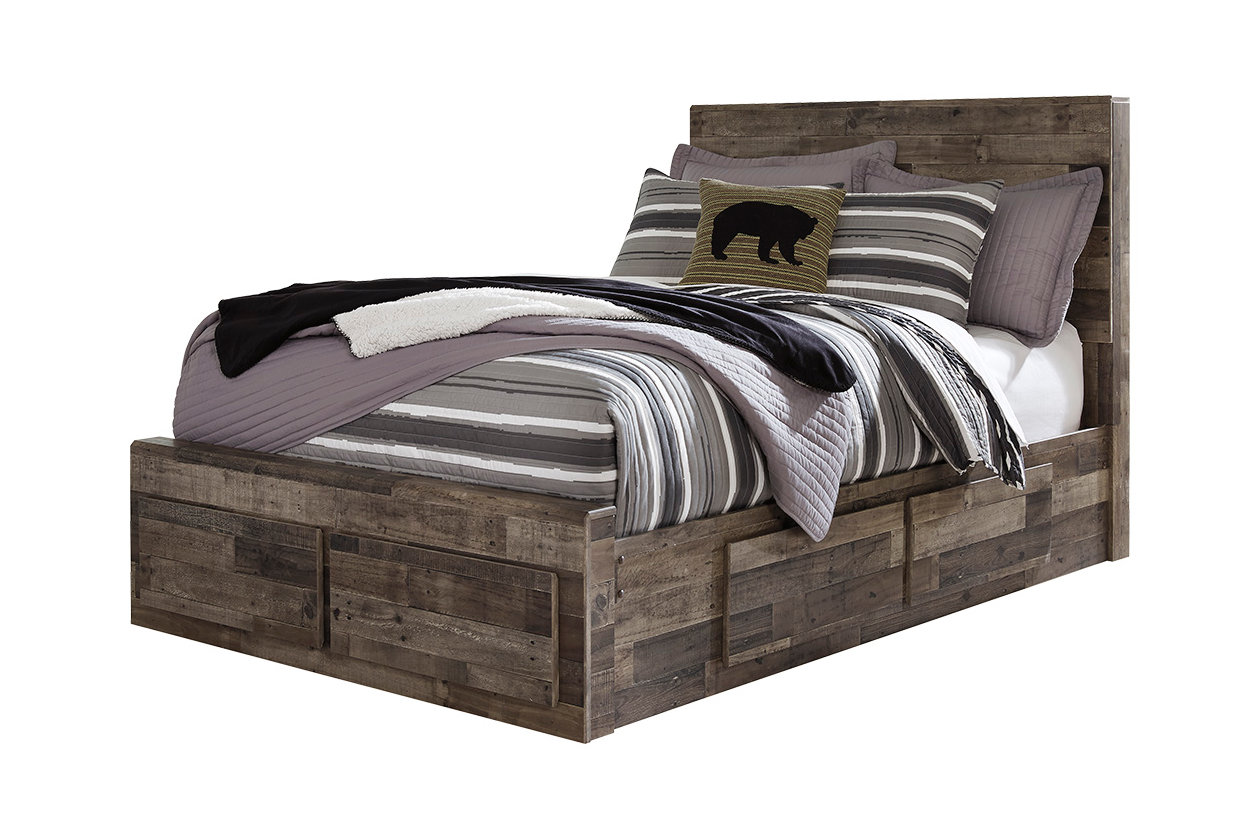 Derekson Gray Full Storage Bed