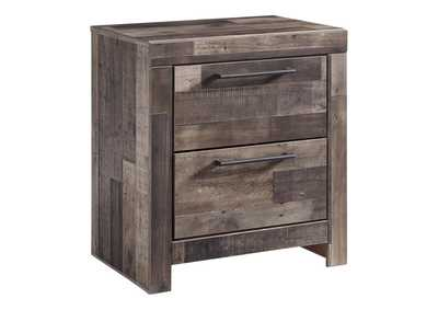 Derekson Multi Gray Two Drawer Night Stand,Benchcraft