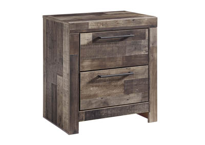 Derekson Multi Gray Two Drawer Nightstand