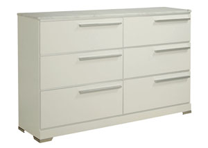 Brillaney White Dresser