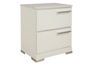 Brillaney White 2 Drawer Nightstand