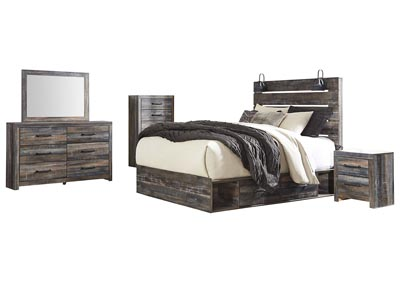 Drystan Queen Storage Bed w/Dresser & Mirror