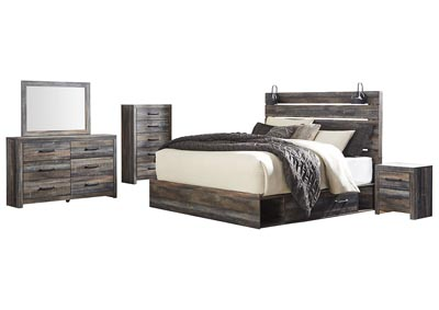 Image for Drystan King Storage Bed w/Dresser & Mirror