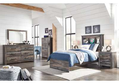 Image for Drystan Bookcase Twin Bed w/Dresser and Mirror