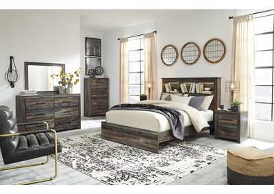 Image for Drystan Bookcase Queen Bed w/Dresser and Mirror