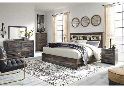 Image for Drystan Bookcase King Bed w/Dresser and Mirror