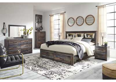 Image for Drystan Bookcase King Storage Bed w/Dresser and Mirror