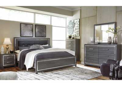 Lodanna Gray Full Panel Bed w/Dresser & Mirror