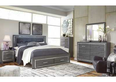 Image for Lodanna Gray Full Storage Bed w/Dresser & Mirror