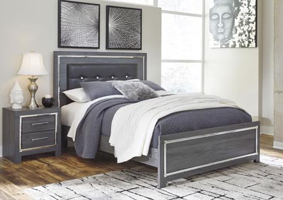 Lodanna Gray Full Panel Bed