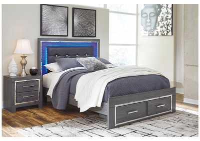 Lodanna Gray Full Storage Bed