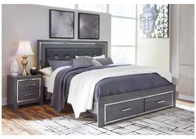 Lodanna Gray King Storage Bed