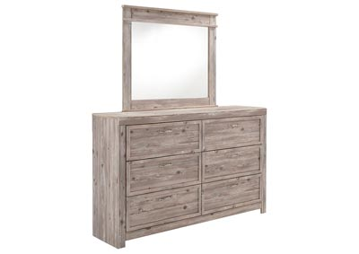 Attirant Willabry Weathered Beige Dresser W/Mirror