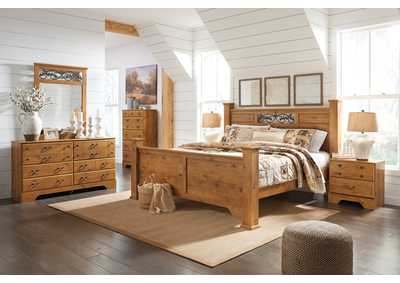 Image for Bittersweet Light Brown King Poster Bed w/Dresser & Mirror
