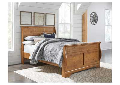 Bittersweet Brown Queen Sleigh Bed