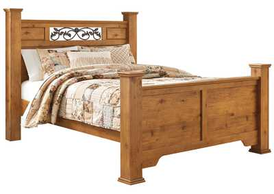 Bittersweet Light Brown Queen Poster Bed