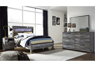 Baystorm Gray Full Panel Bed w/Dresser and Mirror