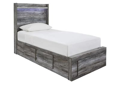 Baystorm Gray Twin Storage Bed
