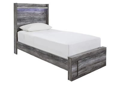Baystorm Gray Twin Platform Storage Bed