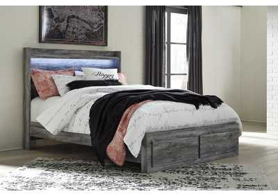 Baystorm Gray Queen Platform Storage Bed
