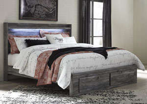 Image for Baystorm Gray King Platform Storage Bed