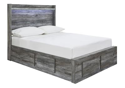 Baystorm Gray Full Storage Bed