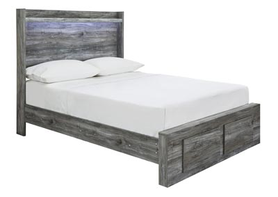 Baystorm Gray Full Platform Storage Bed
