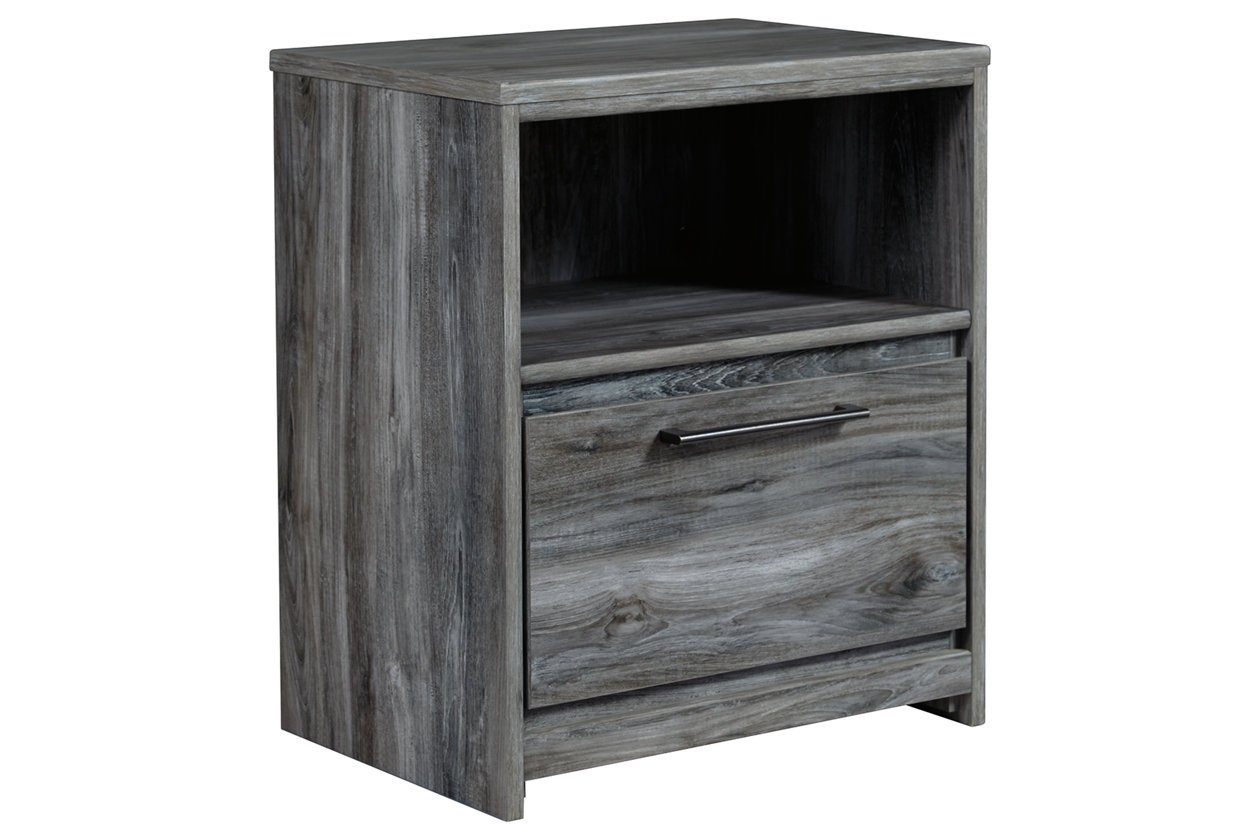 Baystorm Gray One Drawer Night Stand
