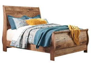 Blaneville Brown Queen Sleigh Bed