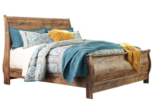 Blaneville Brown King Sleigh Bed